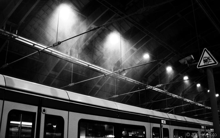 Schneetreiben im Ostbahnhof