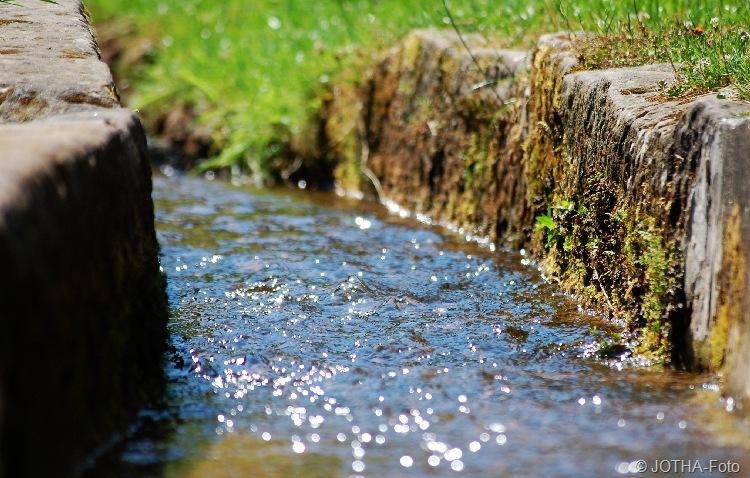 Bachlauf an der Wassermühle