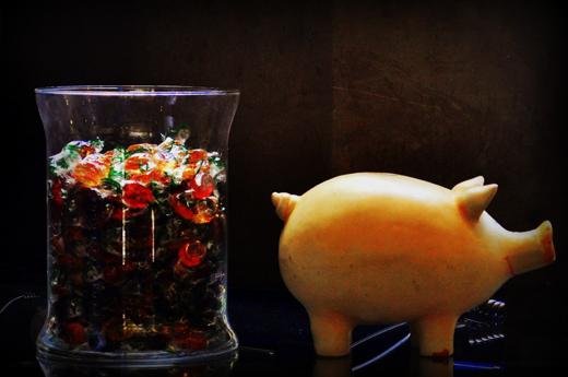 Stillleben mit Sparschwein