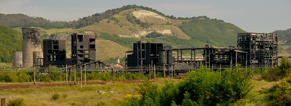 Copsa-Mica heute, so wie viele andere Fabriken