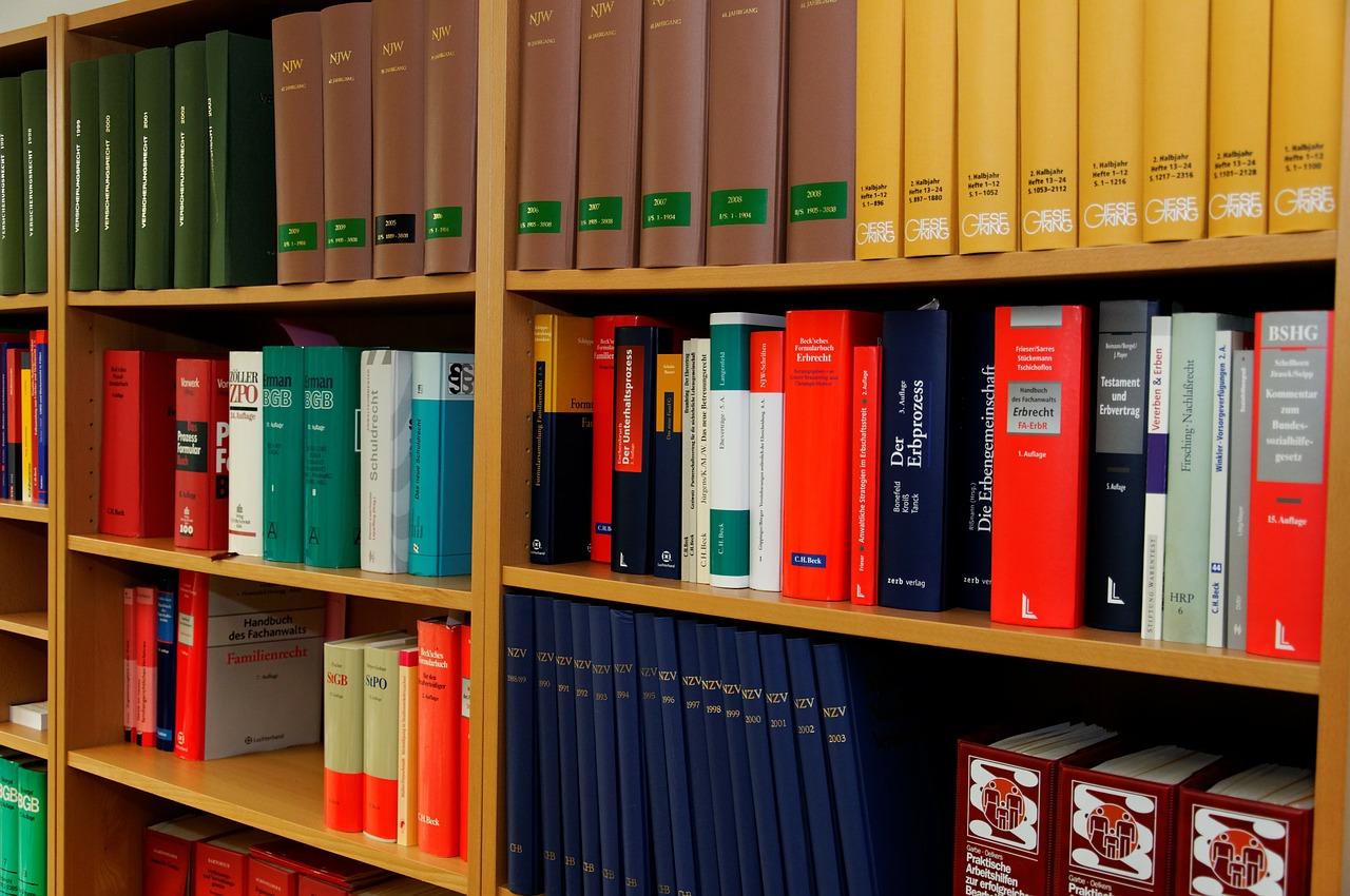56 Paragraphen Bibliothek bookcase-335849_1280